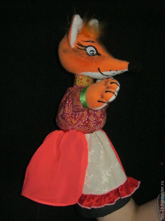 Кукольный театр ручной работы. Ярмарка Мастеров - ручная работа. Купить Кумушка ЛИСА.Перчаточная кукла.. Handmade. Разноцветный