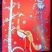 """Дизайн и реклама ручной работы. Ярмарка Мастеров - ручная работа Роспись холодильника """"Финские узоры"""". Handmade."""