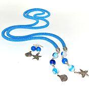 Украшения handmade. Livemaster - original item lariat beaded earrings