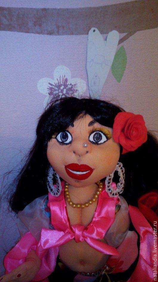 Коллекционные куклы ручной работы. Ярмарка Мастеров - ручная работа. Купить Цыганочка Даночка. Handmade. Комбинированный, украшение интерьера, синтепон