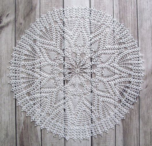 Текстиль, ковры ручной работы. Ярмарка Мастеров - ручная работа. Купить Салфетка № 107. Handmade. Белый, Салфетка вязаная