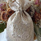 """Сувениры и подарки ручной работы. Ярмарка Мастеров - ручная работа """"Сад белых роз"""", вышитый мешочек. Handmade."""