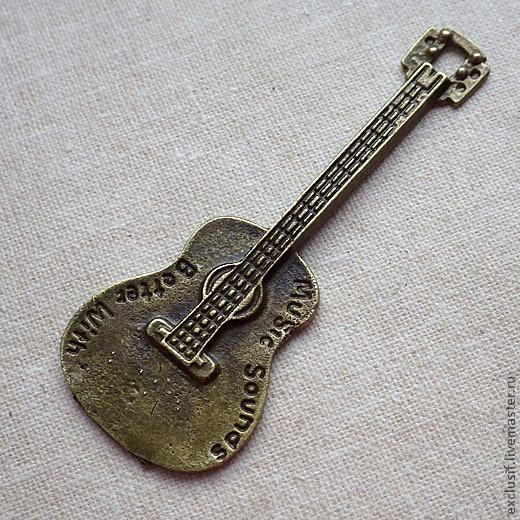 Для украшений ручной работы. Ярмарка Мастеров - ручная работа. Купить Подвеска гитара. Handmade. Подвеска, подвеска гитара