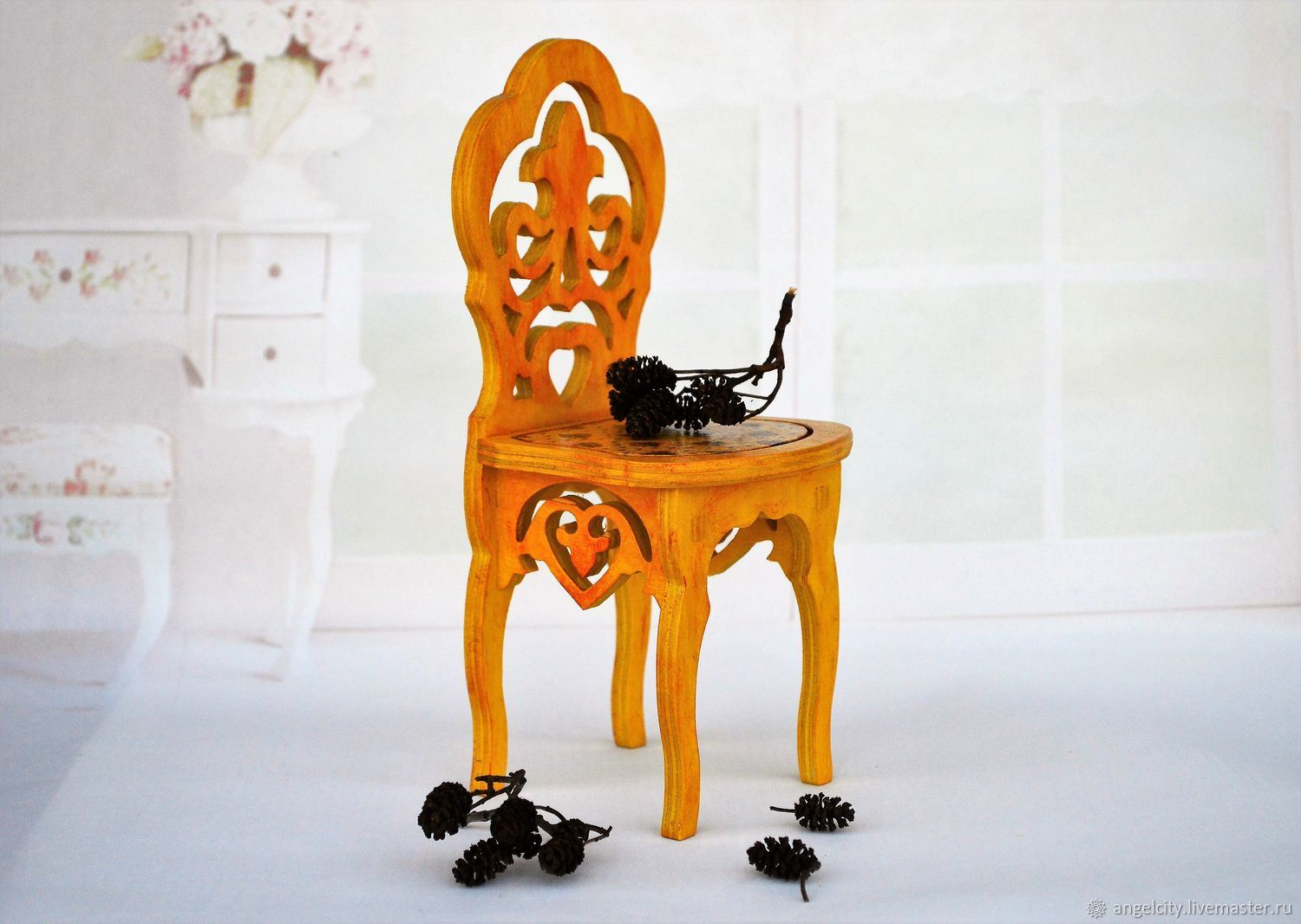 Furniture for dolls: High chair for bears and dolls, Doll furniture, Samara,  Фото №1