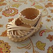 Сувениры и подарки ручной работы. Ярмарка Мастеров - ручная работа Башмачок из бересты. Handmade.