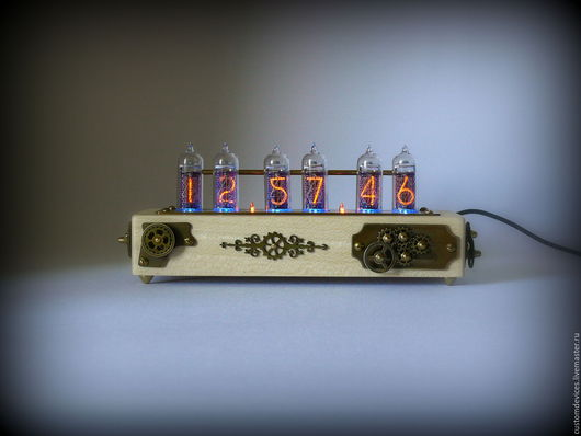 """Часы для дома ручной работы. Ярмарка Мастеров - ручная работа. Купить Ламповые часы """"Стимпанк"""" (Кото, латунь патинированная). Handmade."""