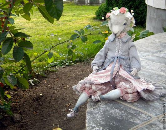 Коллекционные куклы ручной работы. Ярмарка Мастеров - ручная работа. Купить Розовая. Handmade. Бледно-розовый, бохо-стиль, овен