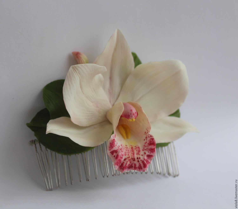 Белая орхидея своими руками