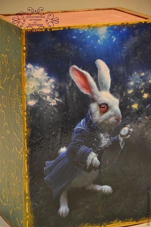 """Шкатулки ручной работы. Ярмарка Мастеров - ручная работа. Купить Короб-шкатулка """"Белый заяц"""".. Handmade. Декупаж, эксклюзивный подарок"""