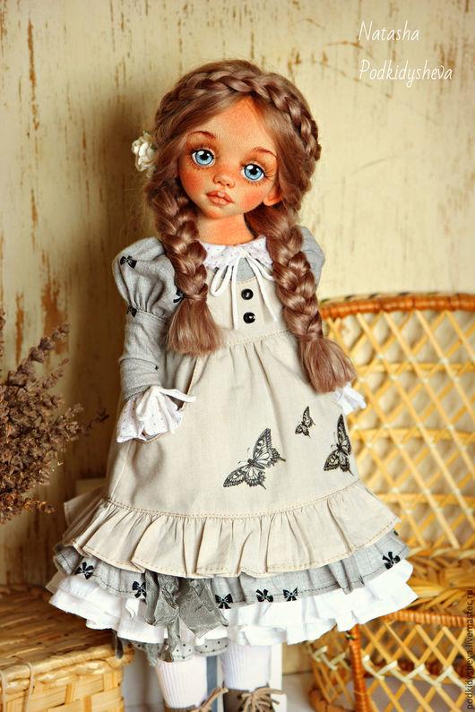 Коллекционные куклы ручной работы. Ярмарка Мастеров - ручная работа. Купить Амели. Handmade. Серый, наталья подкидышева, кожа