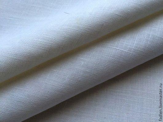 Белый лен 100%,ширина 2,20 м. Для пошива одежды и домашнего текстиля. Купить белый лен. В мятом виде он еще привлекательней!