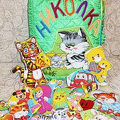 """Куклы и игрушки ручной работы. Ярмарка Мастеров - ручная работа Развивающая именная книжка """"Николка"""". Handmade."""