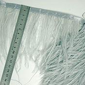 handmade. Livemaster - original item Trim of ostrich feathers 10-15 cm light gray. Handmade.