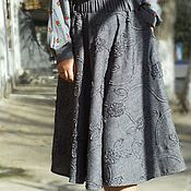 Одежда handmade. Livemaster - original item Skirt sewing Office gray. Handmade.