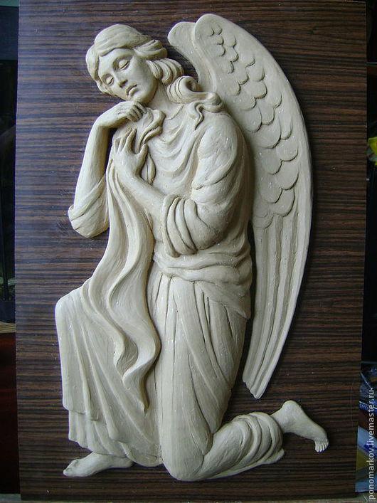 Статуэтки ручной работы. Ярмарка Мастеров - ручная работа. Купить Ангел коленоприклонённый. Handmade. Белый, мемориальная скульптура, металл, металл