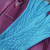 """Аксессуары ручной работы. Ярмарка Мастеров - ручная работа Вязаные перчатки """"Бирюза"""". Handmade."""