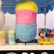 Мягкие игрушки ручной работы. Ярмарка Мастеров - ручная работа Большой муляж сладкой ваты Трёхцветный. Handmade.