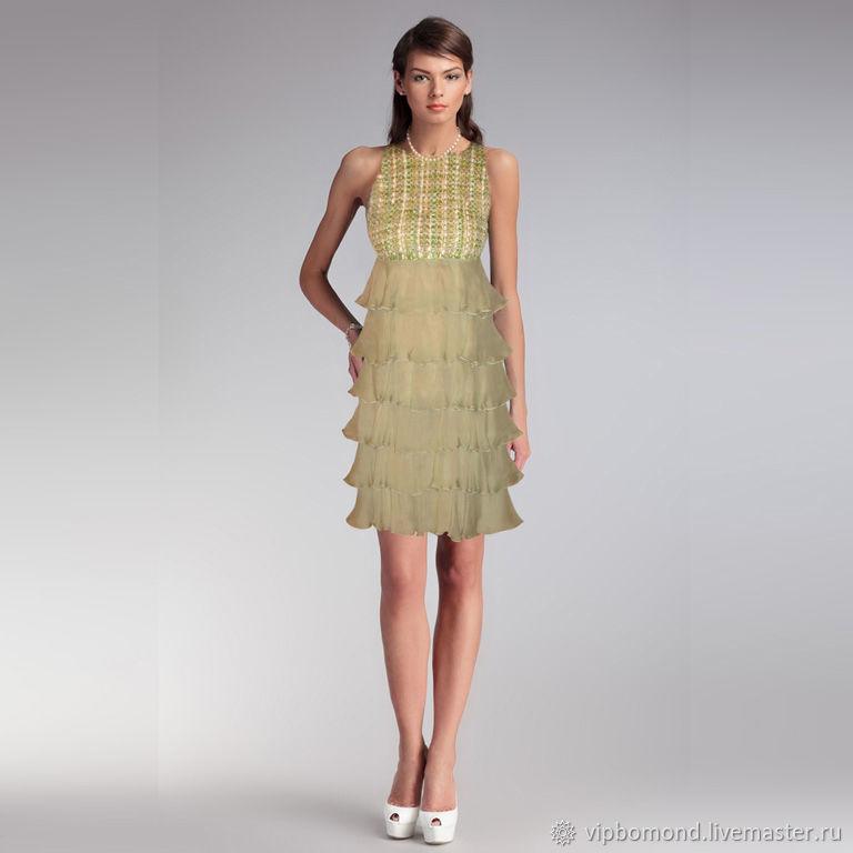 Dress designer collectible made of natural chiffon, Dresses, Chelyabinsk,  Фото №1