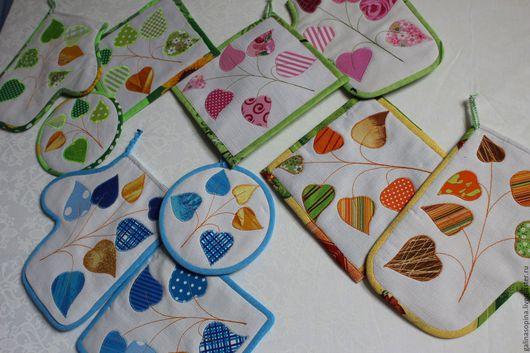 Текстиль, ковры ручной работы. Ярмарка Мастеров - ручная работа. Купить Прихватки для кухни. Handmade. Комбинированный, ручная работа, ватин