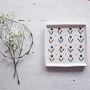 Посуда handmade. Livemaster - original item Northern summer. Saucer handmade ceramics. Handmade.