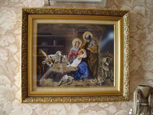 """Иконы ручной работы. Ярмарка Мастеров - ручная работа. Купить Религиозная картина """"Рождество Христово"""". Handmade. Рождество, картина в гостиную"""