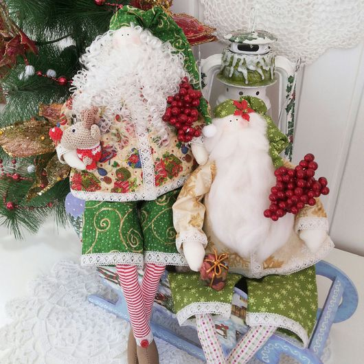 Куклы Тильды ручной работы. Ярмарка Мастеров - ручная работа. Купить Санта Клаус в стиле Тильда. Handmade. Новый год 2016