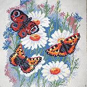 """Картины и панно ручной работы. Ярмарка Мастеров - ручная работа Вышитая картина """"Летняя зарисовка"""". Handmade."""