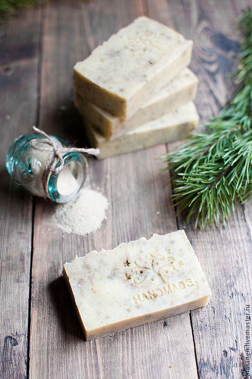Мыло ручной работы. Ярмарка Мастеров - ручная работа. Купить Натуральное мыло Кедр и белая глина. Handmade. мыло для умывания