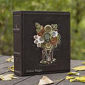 Сувениры и подарки handmade. Livemaster - original item album for coins or Bon Tree of Life (brown genuine leather). Handmade.