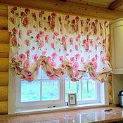 Для дома и интерьера ручной работы. Ярмарка Мастеров - ручная работа Австрийская штора Розы. Handmade.