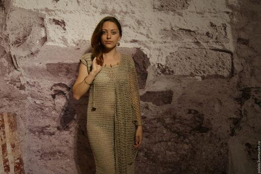 Этническая одежда ручной работы. Ярмарка Мастеров - ручная работа. Купить Платье. Handmade. Серый, Авторский дизайн, универсальная