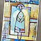 7 Открыток с Ангелами подарок на рождество украшение в детскую. Открытки. Art of genius (oikos). Ярмарка Мастеров.  Фото №5