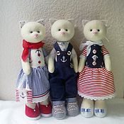 Куклы и игрушки ручной работы. Ярмарка Мастеров - ручная работа Котики. На море. Handmade.