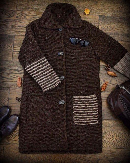 """Верхняя одежда ручной работы. Ярмарка Мастеров - ручная работа. Купить Пальто """"The Chocolate Dream"""". Handmade. Вязаное пальто"""