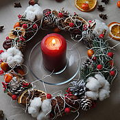 Подарки к праздникам handmade. Livemaster - original item Christmas wreath. Handmade.