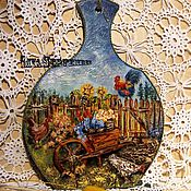 Для дома и интерьера handmade. Livemaster - original item Hanger painting mural for kitchen IN the GARDEN WHETHER in the GARDEN. Handmade.