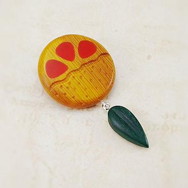 """Украшения ручной работы. Ярмарка Мастеров - ручная работа Брошь """"Красный апельсин"""". Handmade."""