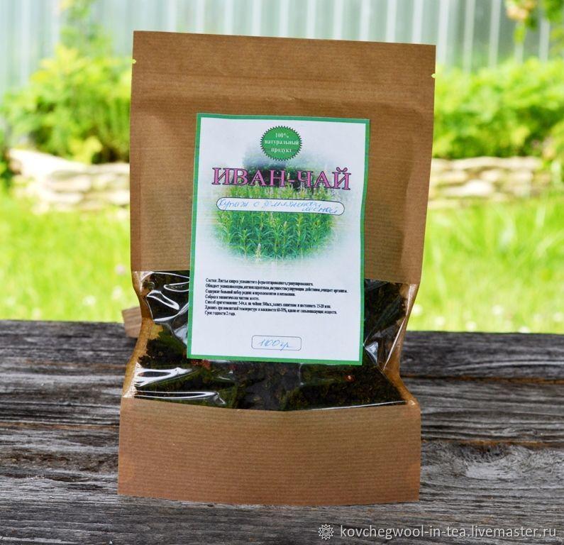 Иван- чай ферментированный,купаж, с земляникой лесной,100гр, Травы, Торжок,  Фото №1