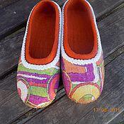 """Обувь ручной работы. Ярмарка Мастеров - ручная работа тапочки """"Абстракция"""". Handmade."""