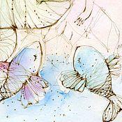 Картины и панно handmade. Livemaster - original item Fish and mermaid. Handmade.