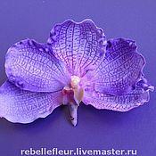 Украшения ручной работы. Ярмарка Мастеров - ручная работа Заколка-защип Фиолетовая орхидея. Handmade.
