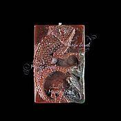 """Материалы для творчества ручной работы. Ярмарка Мастеров - ручная работа Резной кулон """"Хамелеон"""". Handmade."""