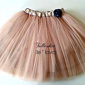 Юбка ручной работы. Ярмарка Мастеров - ручная работа Детская юбка из фатина цвет Ириска. Handmade.