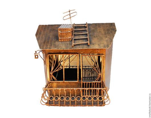 Детская ручной работы. Ярмарка Мастеров - ручная работа. Купить Ночник Светильник Металл Цвет меди  Балкон. Handmade.