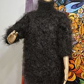 Мужская одежда handmade. Livemaster - original item Sweater Down Jumper Pullover Turtleneck T-nek Collar. Handmade.