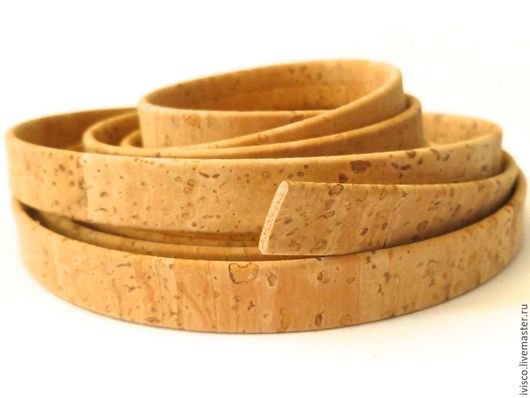 Для украшений ручной работы. Ярмарка Мастеров - ручная работа. Купить Плоский шнур 10х2мм из натуральной пробки. Handmade.