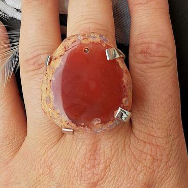 Decorations handmade. Livemaster - original item Brown Agate Ring. Handmade.