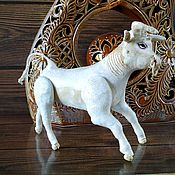Для дома и интерьера handmade. Livemaster - original item Toys: Bull symbol of 2021 vintage style. Handmade.