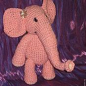 Куклы и игрушки ручной работы. Ярмарка Мастеров - ручная работа Розовый слоник. Handmade.