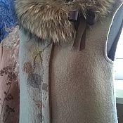 """Одежда ручной работы. Ярмарка Мастеров - ручная работа Валяный жилет-пальто """"Листья закружат"""". Handmade."""